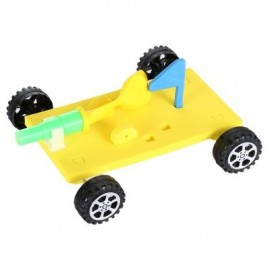 image of BALLOON RACE CAR AIR POWER ASSEMBLE MODEL TOY FOR STUDENT CHILD (COLORMIX) -