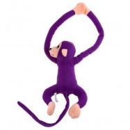 image of LONG ARM HANGING MONKEY PLUSH TOY STUFFED ANIMAL DOLL (PURPLE) 18.00 x 33.00 x 9.00 cm