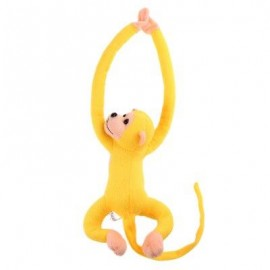 image of LONG ARM HANGING MONKEY PLUSH TOY STUFFED ANIMAL DOLL (YELLOW) 18.00 x 33.00 x 9.00 cm