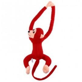 image of LONG ARM HANGING MONKEY PLUSH TOY STUFFED ANIMAL DOLL (DARK RED) 18.00 x 33.00 x 9.00 cm