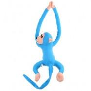 image of LONG ARM HANGING MONKEY PLUSH TOY STUFFED ANIMAL DOLL (LAKE BLUE) 18.00 x 33.00 x 9.00 cm