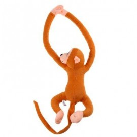 image of LONG ARM HANGING MONKEY PLUSH TOY STUFFED ANIMAL DOLL (LIGHT COFFEE) 18.00 x 33.00 x 9.00 cm
