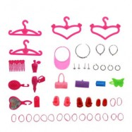 image of 42PCS ACCESSORIES SUPPLIES FOR BARBIE DOLL GIRL CHRISTMAS GIFT (COLORMIX) One SIze