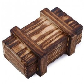 image of EDUCATIONAL MAGIC WOODEN SECRET BOX DRAWER GIFT BRAIN TEASER PUZZLE TOY (ROSE WOODEN) -