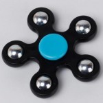 STRESS RELIEF TOY BALL BEARING FIDGET SPINNER (BLACK) -
