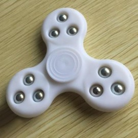 image of 9 BEADS FINGERTIP STRESS RELIEF TOY FINGER GYRO SPINNER (WHITE) -