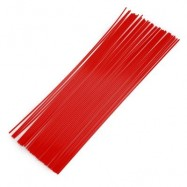image of 1.75MM STRAIGHT PLA FILAMENT PRINTING SUPPLIES FOR 3D PRINTER PEN (RED) ABS