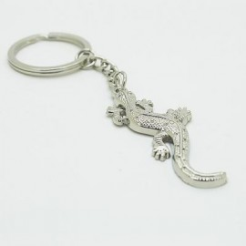 image of CREATIVE LIZARD PENDANT KEY CHAIN (SILVER) 0