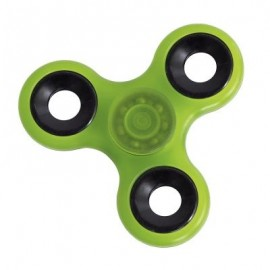 image of LUMINOUS HAND SPINNER PRESSURE REDUCING TOY (GREEN) -