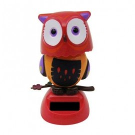image of SOLAR ENERGY SHAKING OWL HOUSE DECORATION CHRISTMAS GIFT (RED) -