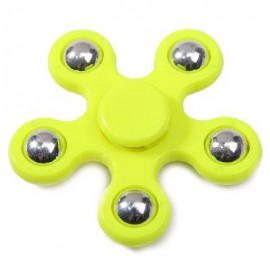 image of FLOWER SHAPE STRESS RELIEF TOY HAND SPINNER FINGER GYRO (YELLOW) -