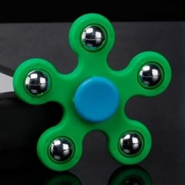 image of STRESS RELIEF TOY BALL BEARING FIDGET SPINNER (GREEN) -