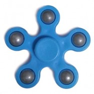 image of FLOWER SHAPE STRESS RELIEF TOY HAND SPINNER FINGER GYRO (BLUE) -