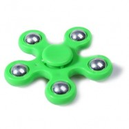 image of FLOWER SHAPE STRESS RELIEF TOY HAND SPINNER FINGER GYRO (GREEN) -