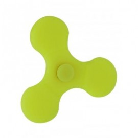 image of STRESS REDUCER SILICONE SPINNING FINGER GYRO (YELLOW) 7*7CM