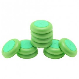 image of 10PCS SOFT DISC BULLET REFILL BLASTER TOY GUN DART (APPLE GREEN) -
