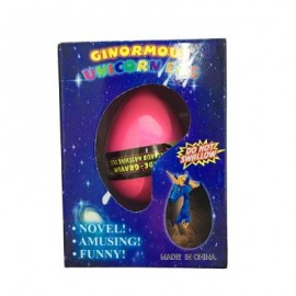 image of UNICORN WATER GROWING HATCHING COLORFUL EGG (RED) 0