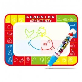 image of WATER DRAWING PAINTING WRITING MAT BOARD WITH MAGIC PEN DOODLE (RED) 0