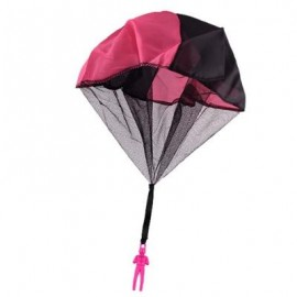 image of CHILDREN THROWING SOLDIER PARACHUTE CHAMBER OUTDOOR SPORT CLASSIC TOY (SANGRIA) 0