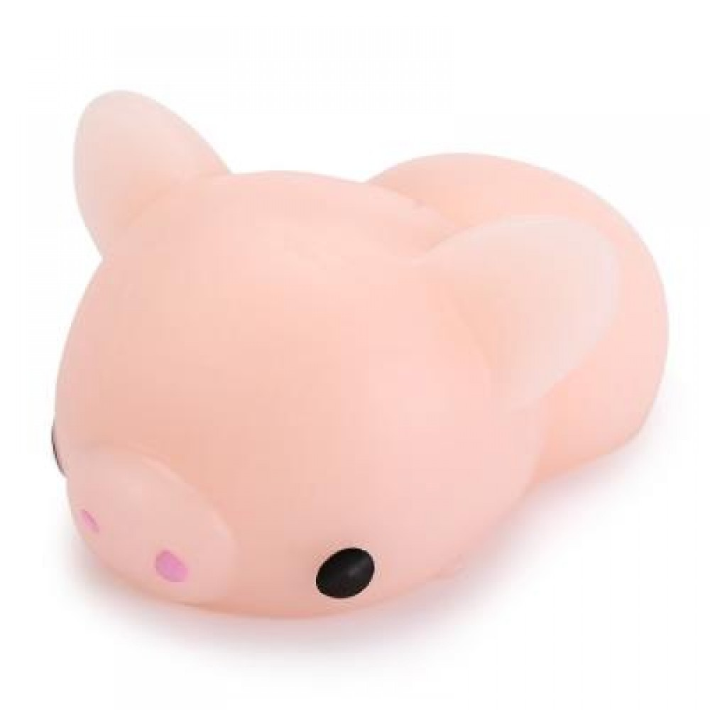 MINI CARTOON PIG TPR ANIMAL SQUISHY TOY STRESS RELIEF PRODUCT DECOR GIFT (COLORMIX) -