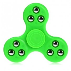image of GYRO STRESS RELIEVER PRESSURE REDUCING TOY WITH NINE BEAD DECOR FOR OFFICE WORKER (GREEN) -