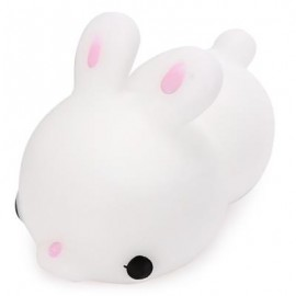 image of MINI CARTOON RABBIT TPR SQUISHY TOY STRESS RELIEF PRODUCT DECORATION GIFT (WHITE) -