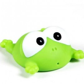 image of CUTE ANIMALS FLOATING SQUEEZE SOUNDING BABY BATH TOYS SOFT RUBBER KIDS CHILDREN SWIMMING POOL TOY FROG BABY SHOWER (GREEN) 0