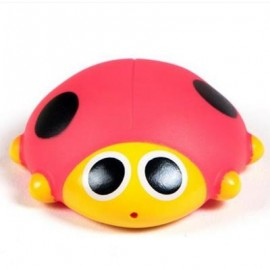 image of CUTE ANIMALS FLOATING SQUEEZE SOUNDING BABY BATH TOYS SOFT RUBBER KIDS CHILDREN SWIMMING POOL TOY FROG BABY SHOWER (RED) 0