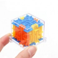 image of MINI 3D MAZE MAGIC CUBE PUZZLE SPEED GAME LABYRINTH BALL EDUCATIONAL TOYS (YELLOW) 0