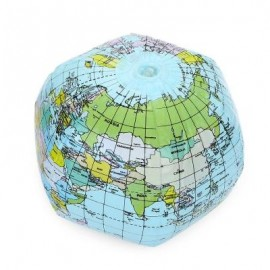 image of INFLATABLE GLOBE TOY KIDS BABY GEOGRAPHY WORLD EARLY EDUCATIONAL TEACHING TOOL (COLORMIX) -