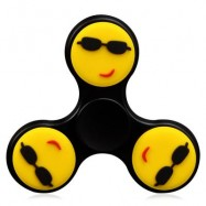 image of FIDDLE TOY STRESS RELIVER EMOTICON FIDGET SPINNER -