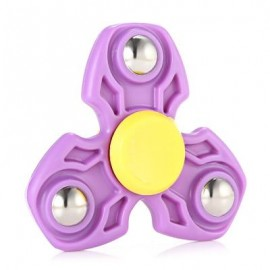 image of ABS DURABLE GYRO STRESS RELIEVER PRESSURE REDUCING TOY FOR OFFICE WORKER (PURPLE) -