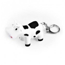 image of OX STYLE KEY CHAIN HANGING PENDANT ABS VOICE LED LIGHT CONTROL BAG DECORATION (WHITE) -