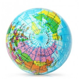 image of 6.3CM GLOBE PU FOAM SQUISHY TOY FUNNY STRESS RELIEVER RELAXATION GIFT (COLORMIX) -