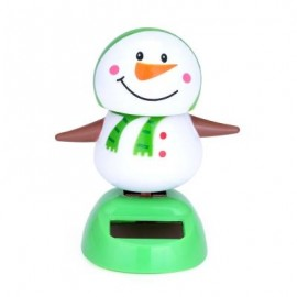 image of NOVELTY SOLAR POWERED DANCING SNOWMAN TOY CHRISTMAS GIFT CAR DESK ORNAMENT DECORATION (COLORMIX) -