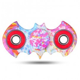 image of WATERCOLOUR BAT PATTERN ABS HAND SPINNER -