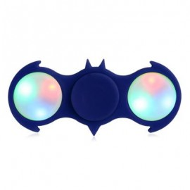 image of FIDDLE TOY COLORFUL FLASHING LED LIGHTS BAT FIDGET SPINNER -