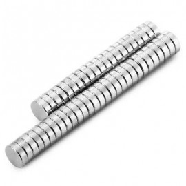image of 50PCS 3 X 1MM N38 STRONG NDFEB ROUND MAGNET BIRTHDAY DIY INTELLIGENT GIFT (SILVER) -