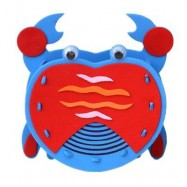 image of KID STEREOSCOPIC STICKER PEN CONTAINER HANDMADE STICKUP EDUCATIONAL TOY (BLUE) CRAB
