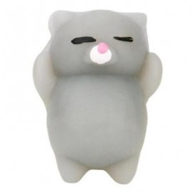 image of CUTE CAT STYLE SQUISHY TOY FOR PRESSURE REDUCING (GRAY) 0