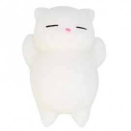 image of CUTE CAT STYLE SQUISHY TOY FOR PRESSURE REDUCING (WHITE) 0