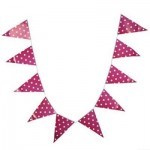 LIGHTWEIGHT PENNANT FLAG COMBO BAR HANGING BANNER FOR PARTY (ROSE) -