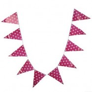 image of LIGHTWEIGHT PENNANT FLAG COMBO BAR HANGING BANNER FOR PARTY (ROSE) -