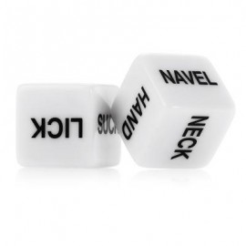 image of 1 PAIR OF HUMOUR SEX DICE GAMBLING FUN TOYS FOR COUPLES ROMANCE EROTIC CRAPS DICE PIPE (WHITE) -
