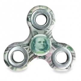 image of MONEY PRINT FINGER GYRO THREE HOLES FIDGET SPINNER -