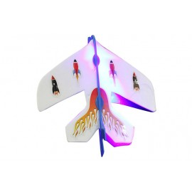 image of SLINGSHOT LED LIGHT FLARE CATAPULT AIRPLANE OUTDOOR TOY FOR KID (COLORMIX) -