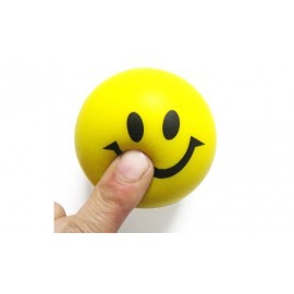 image of 6.3CM NOVELTY PRINTING SMILE FACE SQUEEZE BALL STRESS RELEASE TOY FOR KID (YELLOW) -