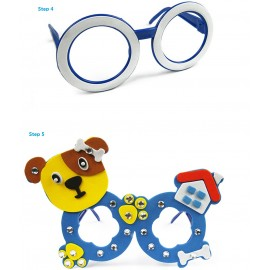image of CHILDREN CARTOON STEREOSCOPIC GLASSES HANDMADE STICKUP EDUCATIONAL TOY (APPLE GREEN) PANDA