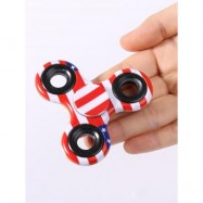 image of STRESS RELIEF FIDDLE TOY CAMOUFLAGE FINGER HAND SPINNER -
