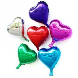image of 10 INCH HEART SHAPE FOIL BALLOON AUTO-SEAL REUSE PARTY / WEDDING DECOR INFLATABLE GIFT FOR CHILDREN (COLORMIX) -